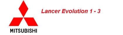 Lancer Evolution 1-3